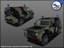 British Army Landrover Defender 110 WiP preview