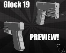 Glock 19! Skin preview