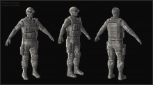 Recon Soldier Highpoly WiP preview
