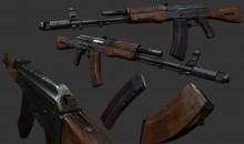 AK-74 TEXTURING WiP preview