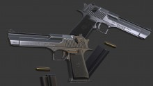 Texturing Toasty Fresh's Desert Eagle WiP preview