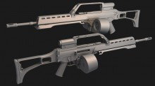 G36 High Poly WiP preview