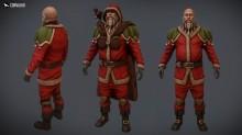Texturing - Barbarian Santa Skin preview