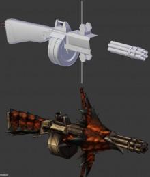 Monster Hunter Rathling Gun WiP preview