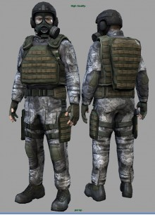 H.E.C.U soldiers for Half Life 2 preview