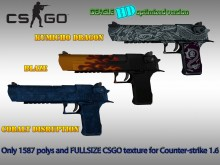 CS:GO DEAGLE HD skins for Counter-stike 1.6 preview