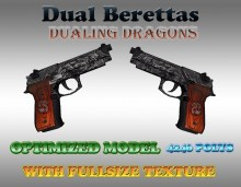 CS:GO Dual Berettas HD Skins (CS1.6) Skin preview