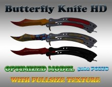 CS:GO Butterfly Knife HD Skins (CS1.6) preview