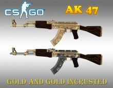CS:GO AK CARTEL GOLD and GOLD INCRUSTED WiP preview