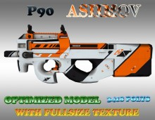 CS:GO P90 HD skins for cs 1.6 preview