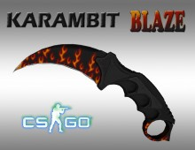 Karambit blaze WiP preview