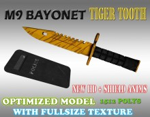CS:GO M9 Bayonet HD skin + Shield for cs 1.6 WiP preview