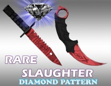 Diamond rare patterns M9&Karambit knifes Skin preview