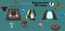QUAKE 3 ARENA Models in Counter-Strike Skin preview