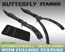 CS:GO Butterfly HD skin + Shield for cs 1.6 preview