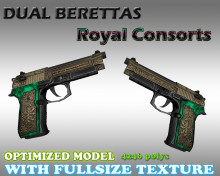 CS:GO Dual Berettas HD Skins (CS1.6) WiP preview