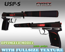 CS:GO USP-S HD skins for cs 1.6 WiP preview