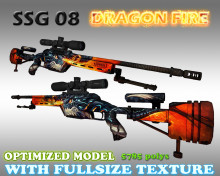 CS:GO SSG08 HD skins for cs 1.6 WiP preview