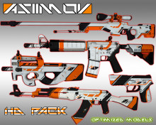 ASIIMOV Pack HD skins preview