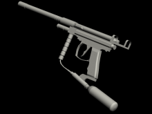 shitty paintball gun model WiP preview