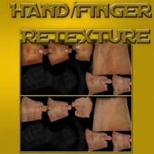 Hand/Fingers Retexture WiP preview