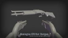 Remington 870 Riot Shotgun Skin preview